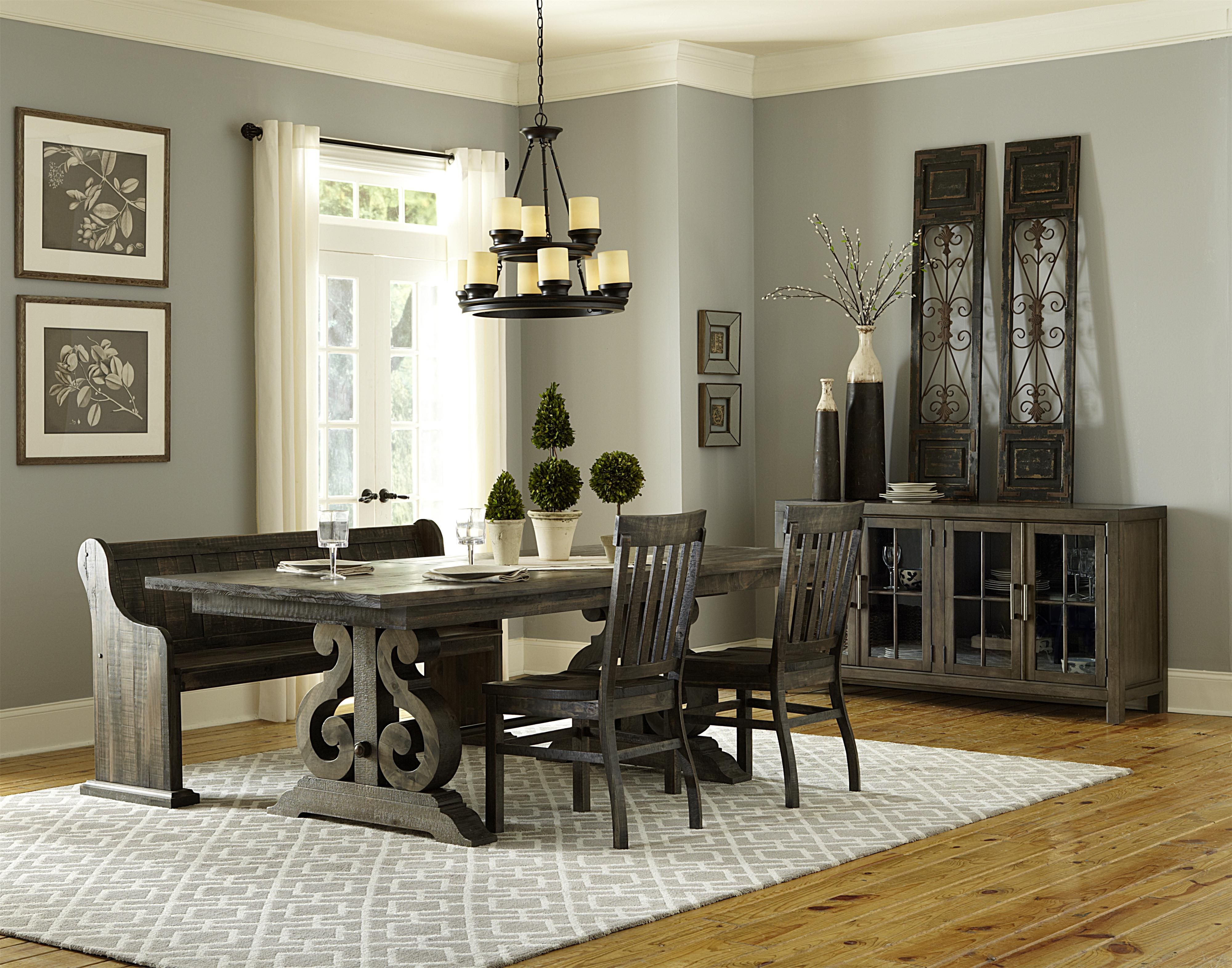 Bellamy Transitional Double Pedestal Dining Table With Two Butterfly  Extension Leaves By Magnussen Home Design Inspirations
