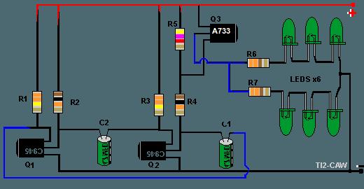 Circuito Luces Led Intermitentes : Proyecto leds intermitentes electrónica circuitos y