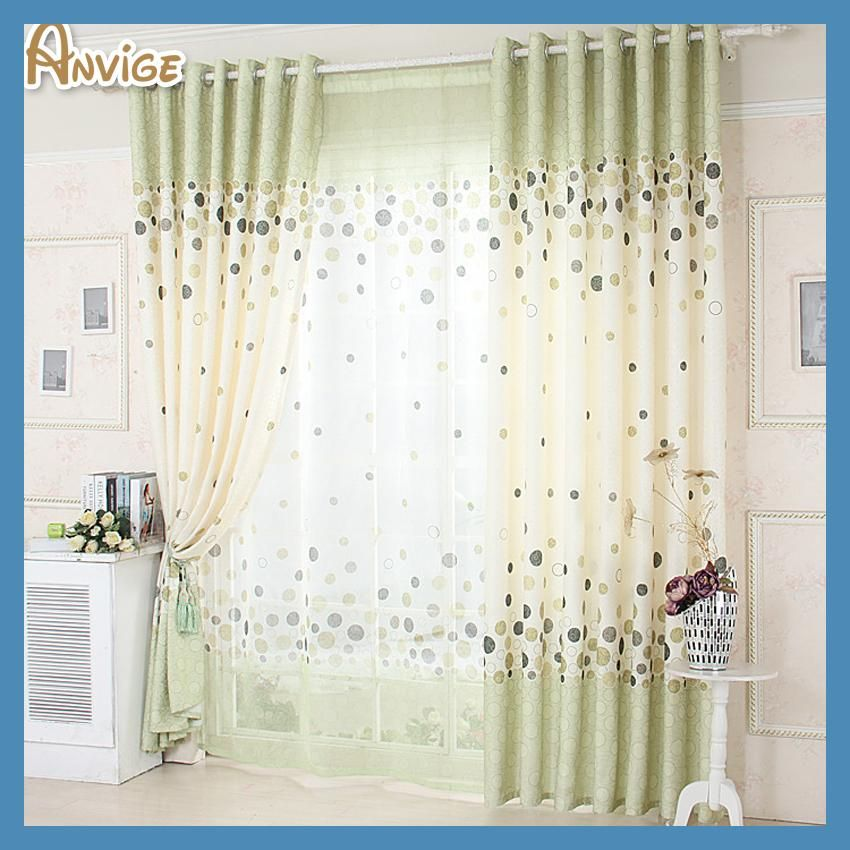 ANVIGE Pastoral Half Blackout Curtains Window Treatment For Living Room Cheap Curtain Cortina Pasa Drapes 1