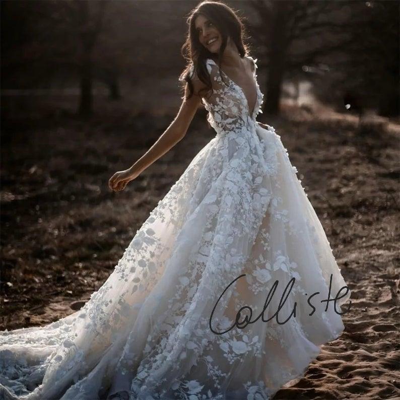 QUEEN Calliste Bride, wedding dress, boho bride, g