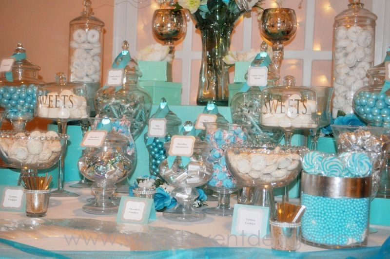tiffany colored candy