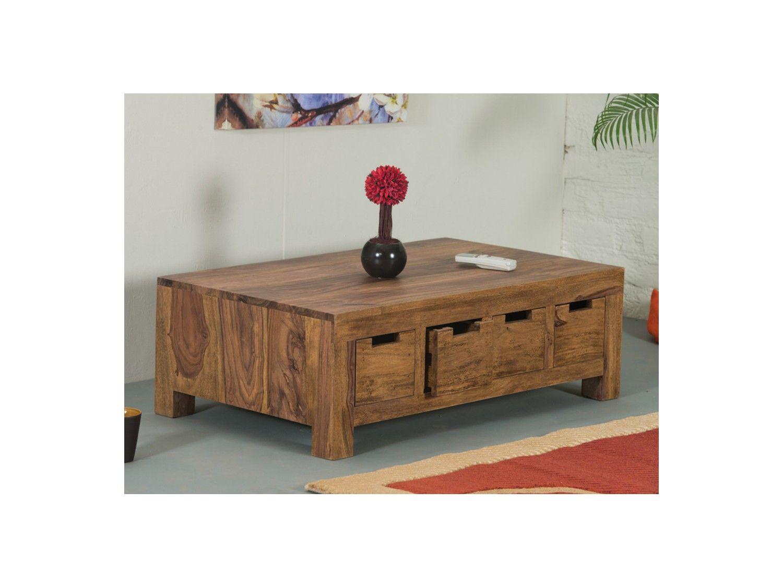 THAIS sheeshamTropical 4 de Bois tiroirs basse Table 35qcRLA4j