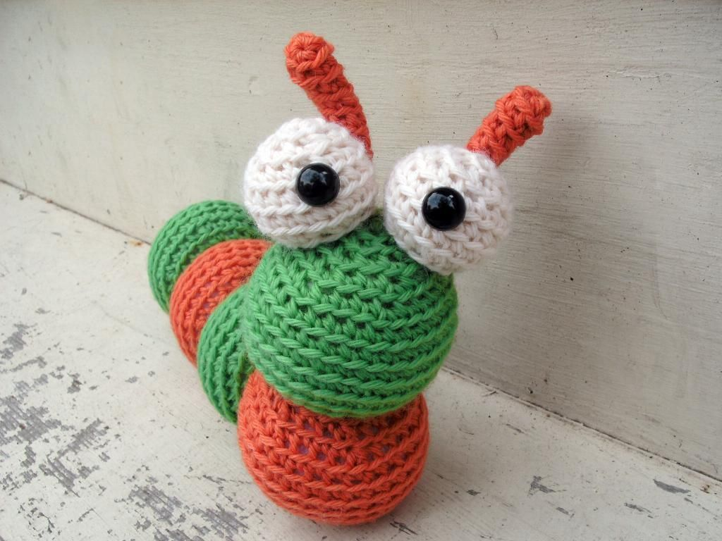 Amigurumi Caterpillar : You have to see amigurumi caterpillar by ferretmania! crocheting