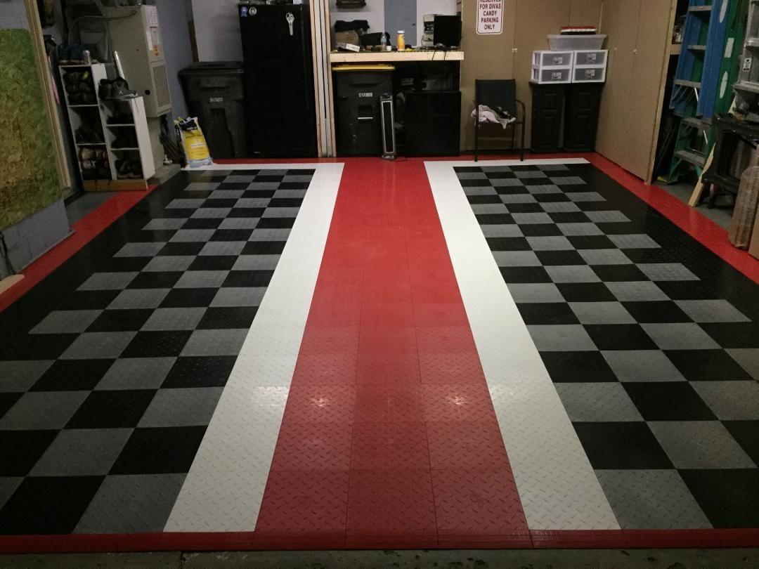 Garage Floor Tiles American Made Truelock Hd Racedeck Tile