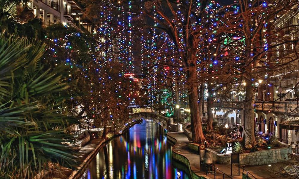 The San Antonio River Walk Is Covered
