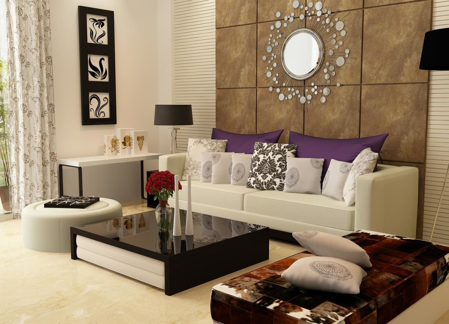 10 Accent Wall Ideas For Indian Homes Living Room Sofa Modern