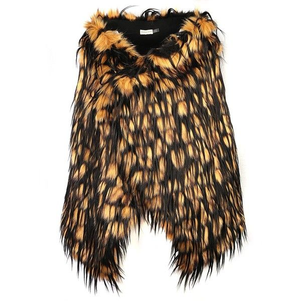 DRIES VAN NOTEN Faux Fur Stole ($585) ❤ liked on Polyvore featuring accessories, scarves, dries van noten scarves, fake fur shawl, fake fur scarves, faux fur stole and dries van noten