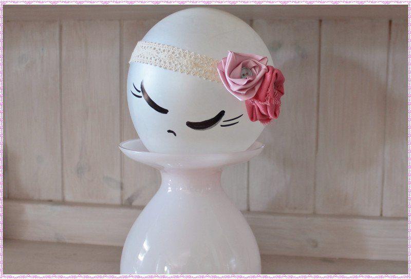 Haarbänder - Haarband/ Babykopfschmuck - ein Designerstück von HausLiliput bei DaWanda