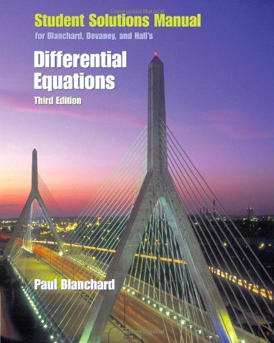 Download Free Student Solutions Manual For Blanchard Devaney