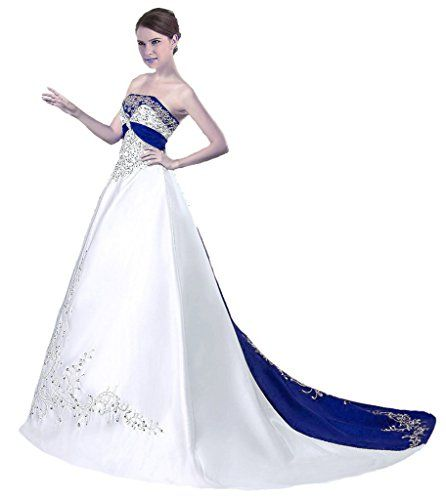 RohmBridal Womens Strapless Embroidery Princess Evening Ball Gown