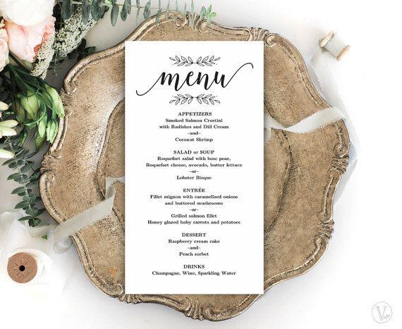 simple menu template
