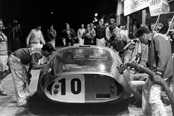 Bob Holbert and Dave MacDonald drove this Shelby Cobra Daytona Coupe to a 4th place finish and first in class at the 1964 Sebring 12 Hour GP.  Henry Ford/Friedman photo.