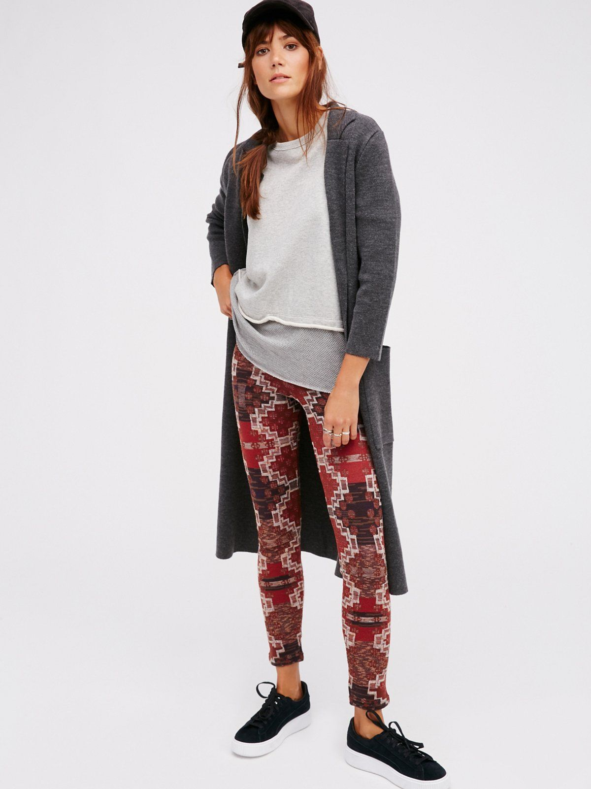 Sheila Márquez || FP Byzantine High-Rise Heavyweight Printed Sweater Legging (Terracotta Combo)