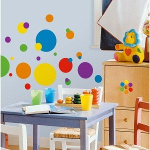 just dots primary colors peel stick wall decals 10 shop a