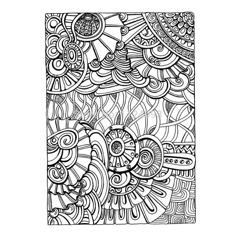 coloriage | coloriage abstrait | Pinterest | Mandalas