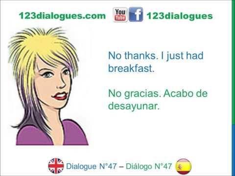 Dialogue 47 - Inglés Spanish - Asking a favor - Pedir un favor al vecino - YouTube
