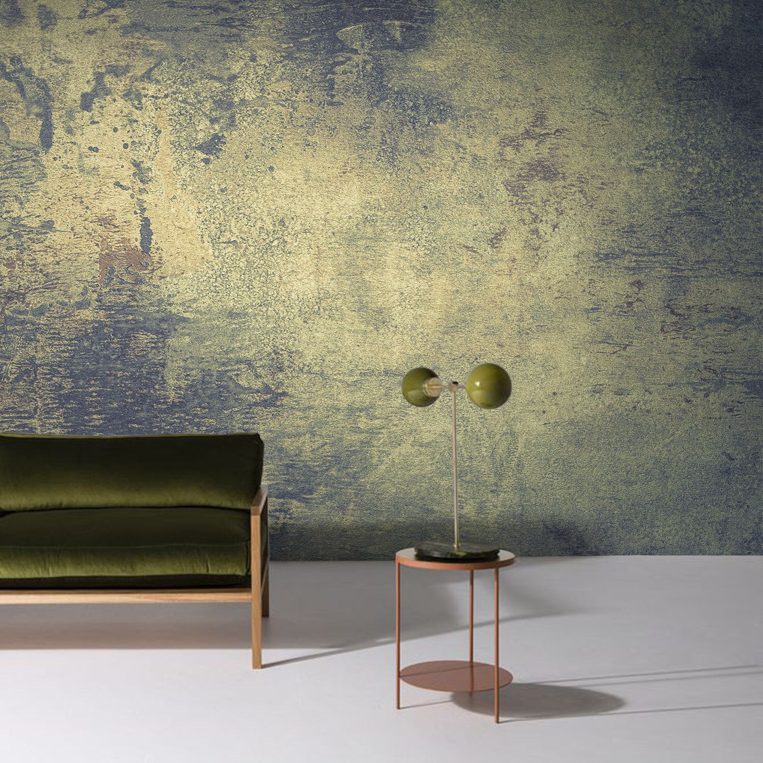 Dark Grunge Wall Mural Peel And Stick Wallpaper Green And Etsy Yellow Decor Peel And Stick Wallpaper Cement Walls