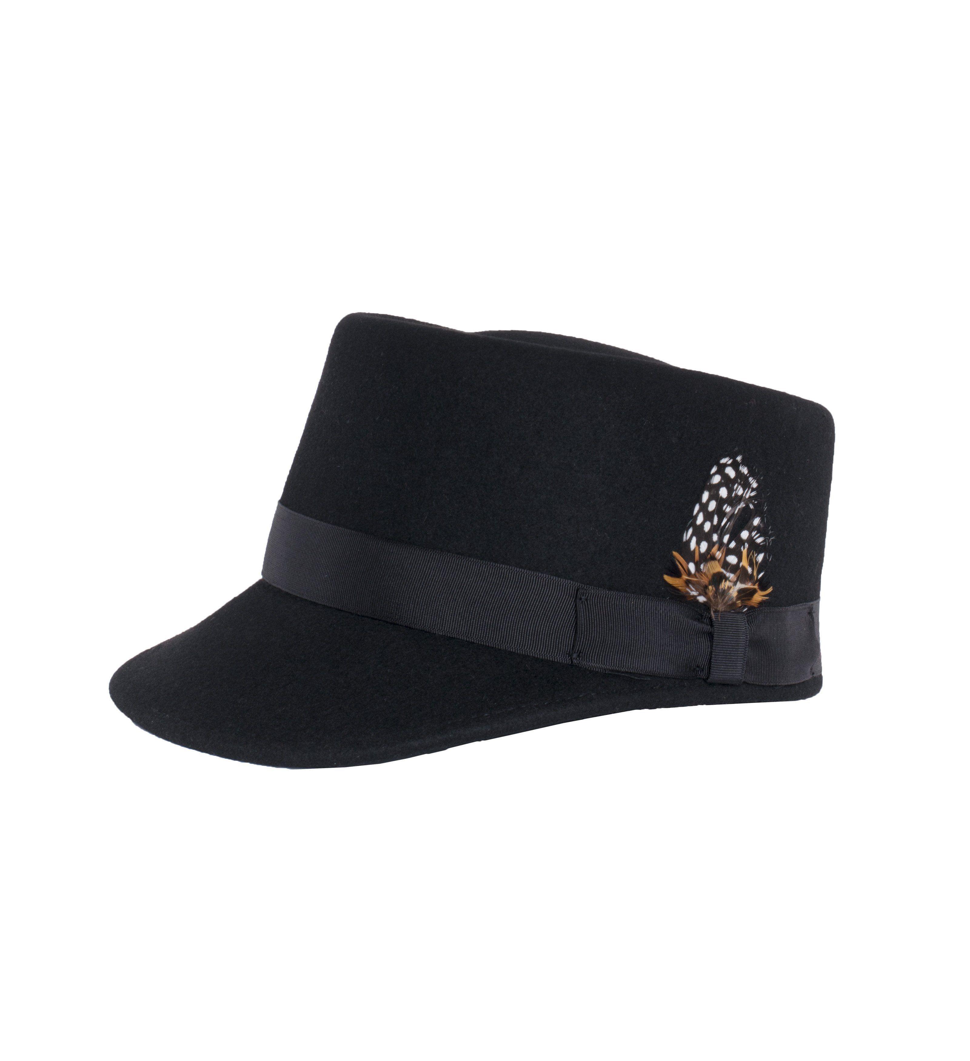 ef5b88d97e9 Modern Conductor Train Engineer Hat - Black