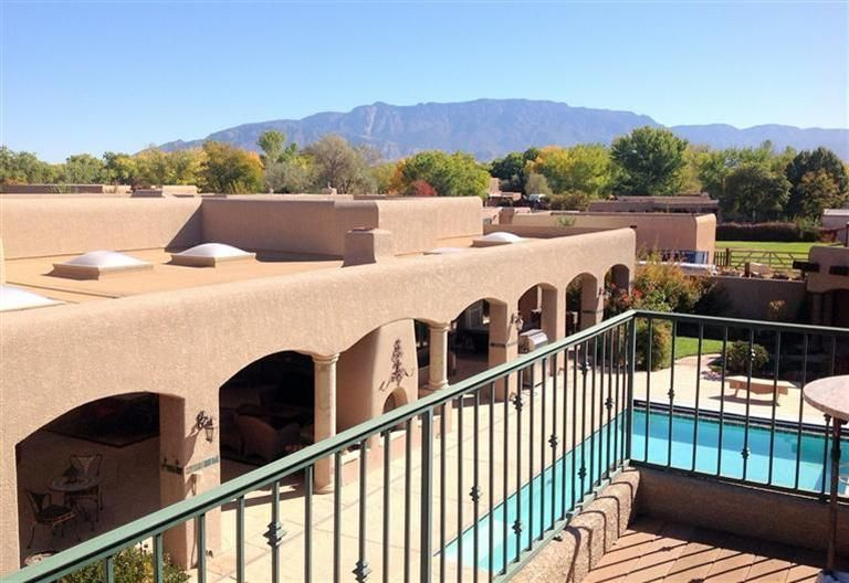 Balcony at 10040 Los Cansados Rd Albuquerque New Mexico home for sale