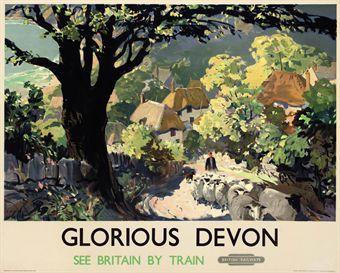 Leslie Arthur Wilcox (1904-1982)   GLORIOUS DEVON   Vintage Posters Auction   posters, British & Irish travel   Christie's