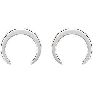 14kt White Crescent Earrings #getitatOakRidgeJewelers #SSI86259
