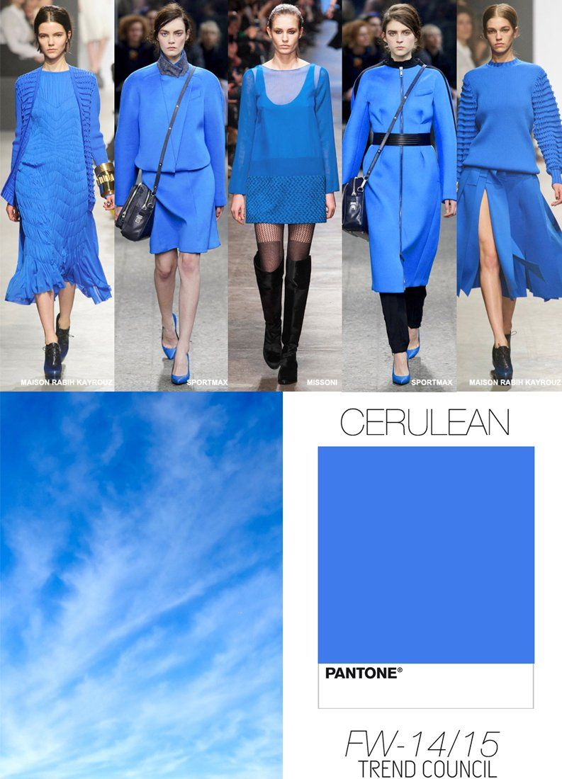 Fw 14 15 Cerulean The Lighter Bright Blues Pair Soooo Well With