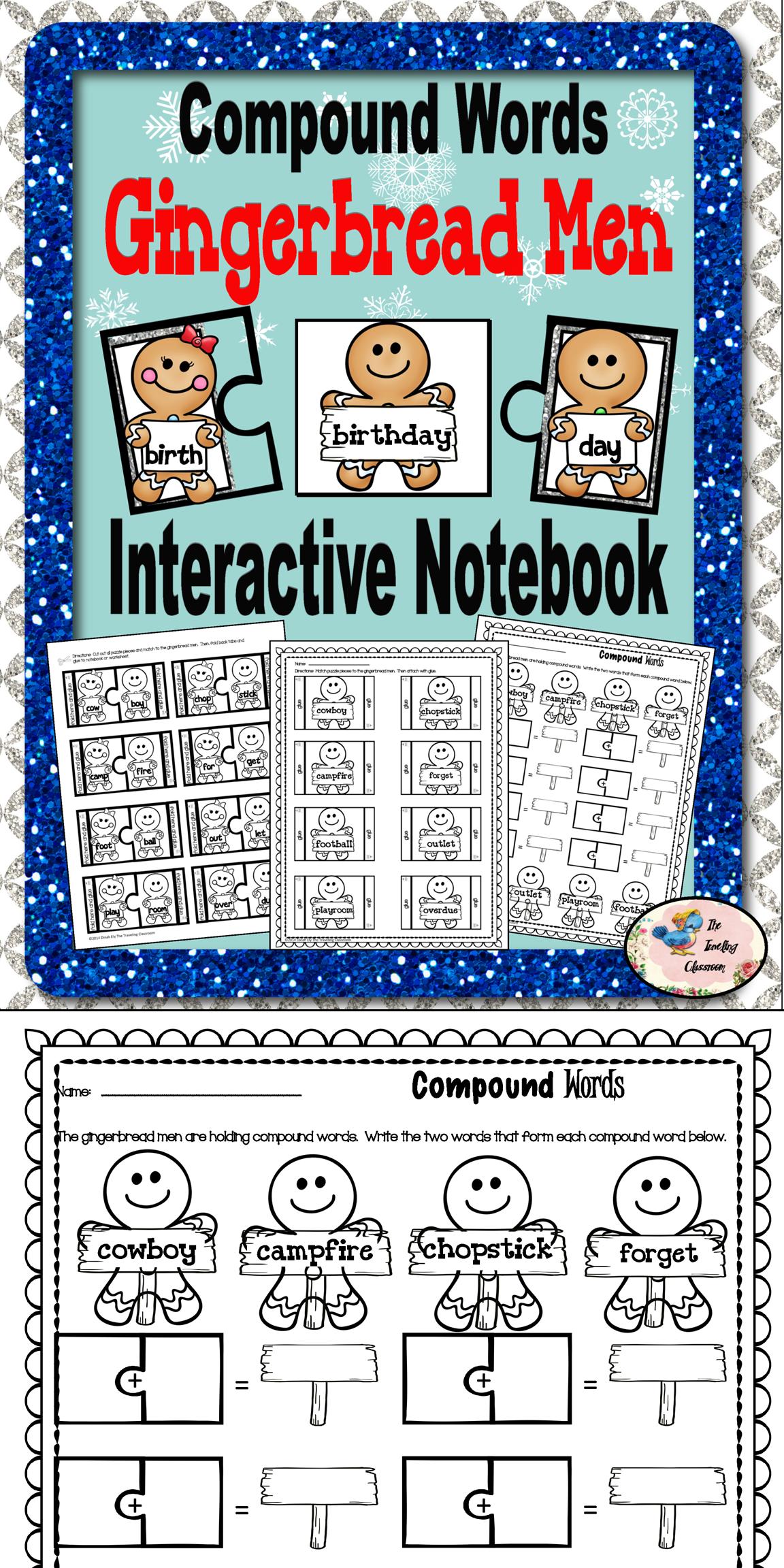 Christmas Compound Words Words Interactive Notebook Activities [ 2304 x 1152 Pixel ]