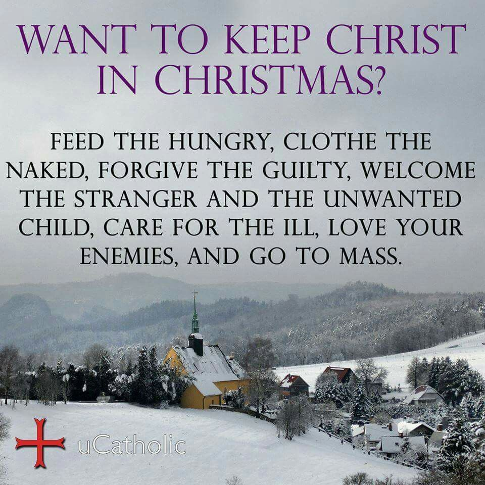 That is so true and so beautiful at the same time catholic keeping christ in christmas kristyandbryce Images
