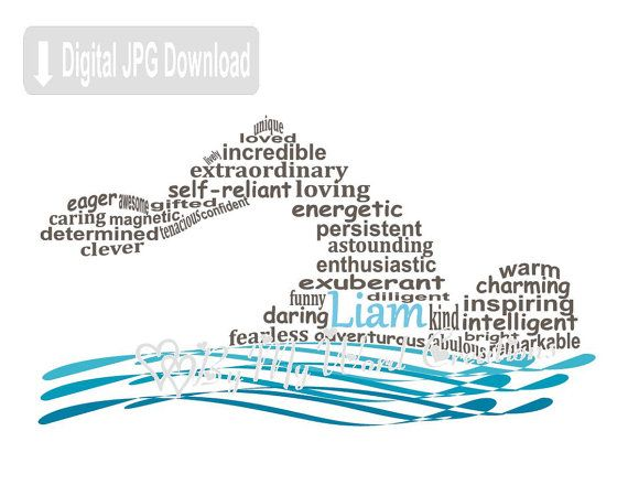 PERSONALISED Swimming Gift Word Art Wall Print Gift Idea Pool Kid Swimmer Diving