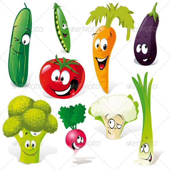 Vegetable Cartoon Vegetable Cartoon Funny Vegetables Vector Free