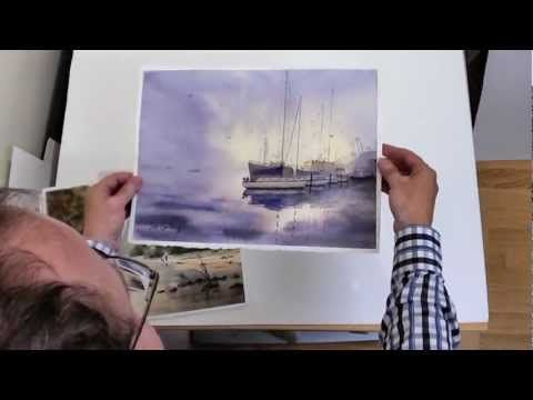 Watercolor Paintings Which Have Not Been Stretched Usually End Up