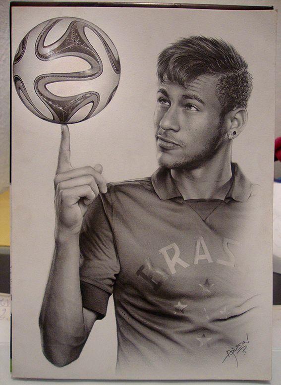 Getekende Neymar 3 Desenhos Realistas Neymar Desenho