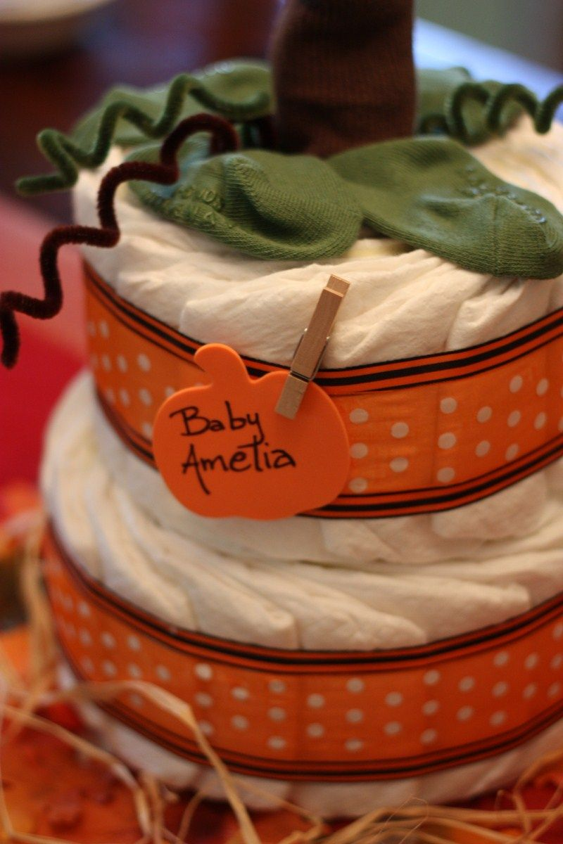 12 best pumpkin diaper cake images on pinterest baby shower gifts baby gifts and diapers