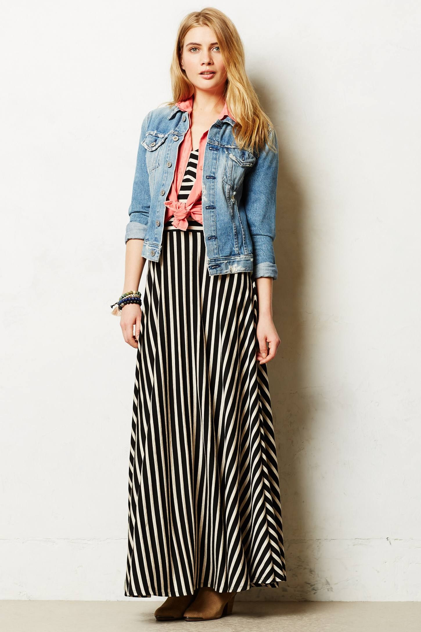 Demarcation maxi dress styled at for Anthropologie mural maxi dress