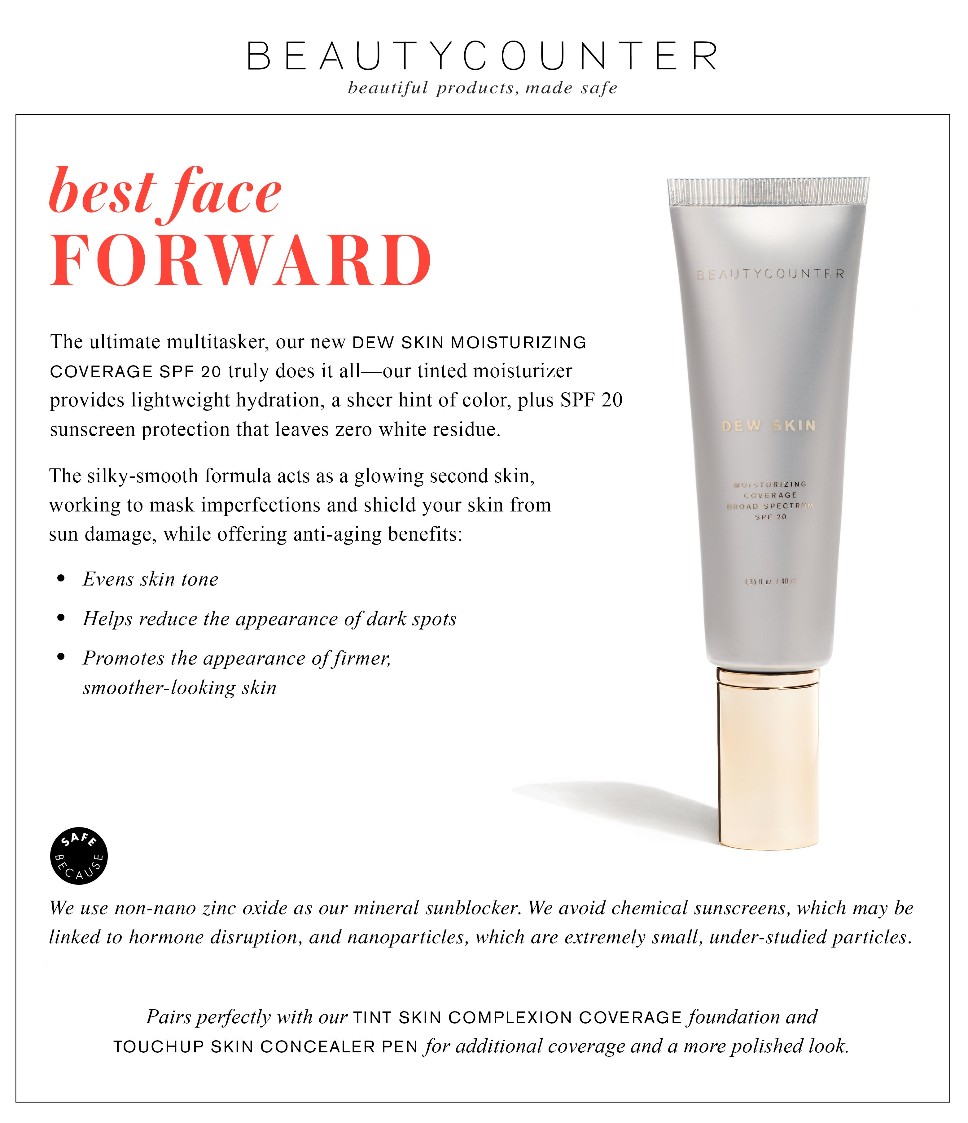 Brand new today...Beautycounter Tinted Moisturizer with
