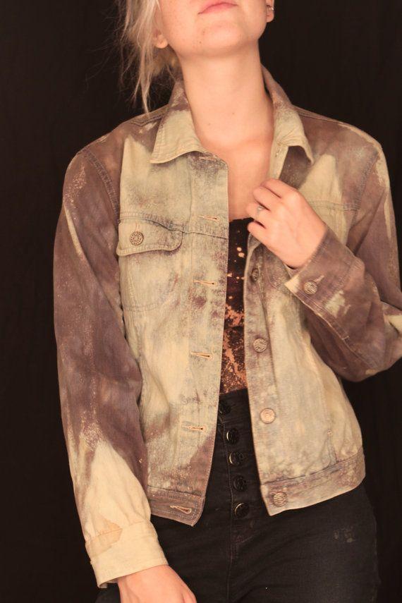 Hand Dyed Alternative/Grunge Denim Jacket