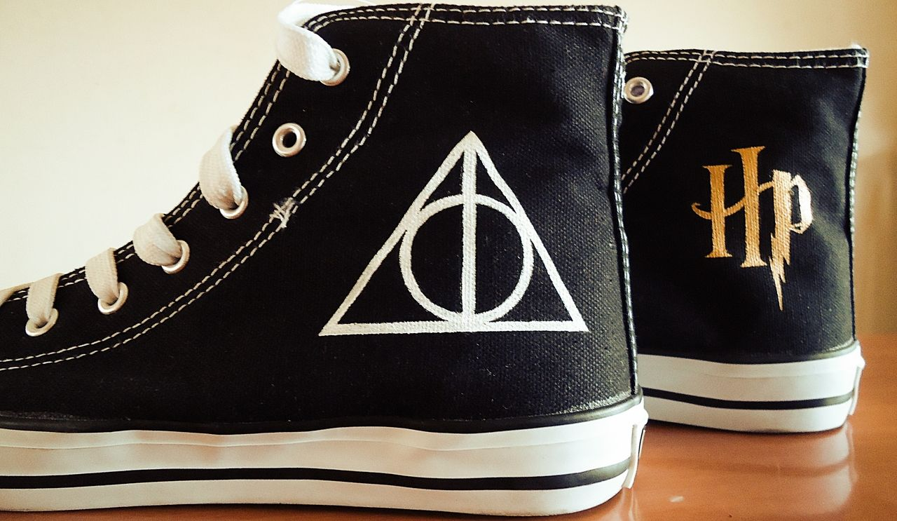 ba9739370cc8e3 Harry Potter and the Deathly Hallows shoes (Converse style ...