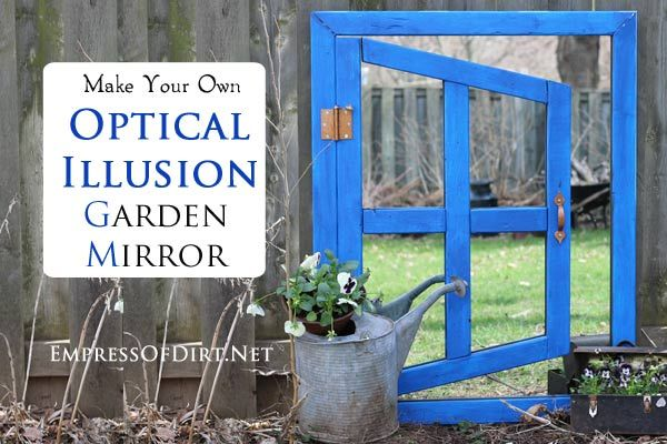 The dos and dont of garden mirrors ideal home garden for Outdoor mirror ideas