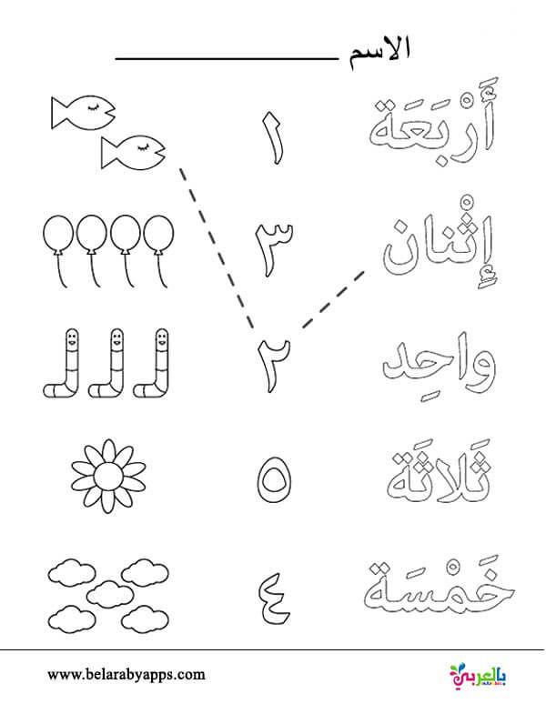 تدريبات الارقام العربية لرياض الاطفال أوراق عمل للطباعة تمارين الارقام عربي بالعربي نتعلم Arabic Alphabet For Kids Learn Arabic Alphabet Arabic Kids