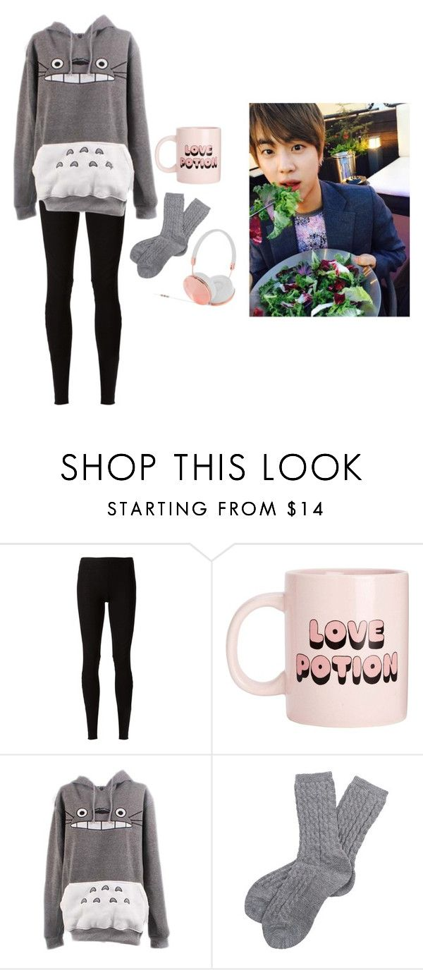 """""""Jin cheers you up while stay in with a cold"""" by got7outfits ❤ liked on Polyvore featuring Rick Owens Lilies, Bando, Barbour and Frends"""