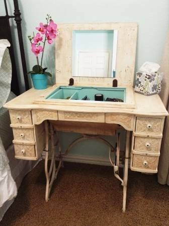 Singer Sewing Machine Repurposed Shabby Chic