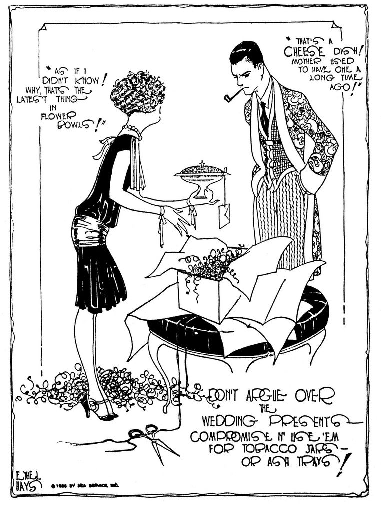 an ethel hays newspaper cartoon from the mid to late 20s the 1920s Education Cartoons an ethel hays newspaper cartoon from the mid to late 20s the copyright notice
