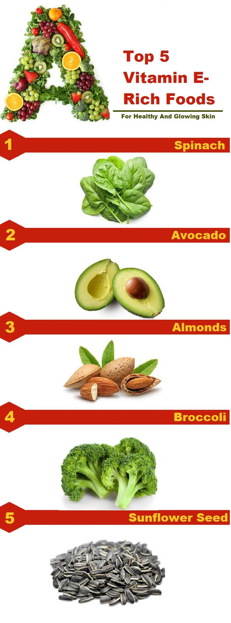 Top 5 Vitamin E Rich Foods For Healthy And Glowing Skin Foods