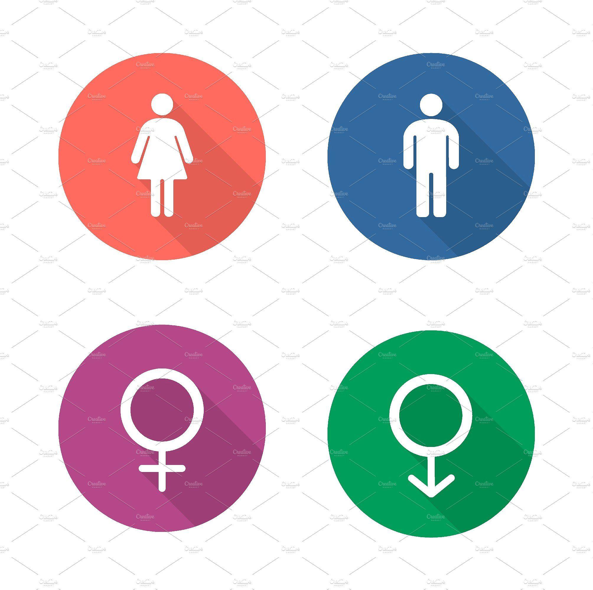 Gender Symbols Icons Vector Symbols Icon Design Icon