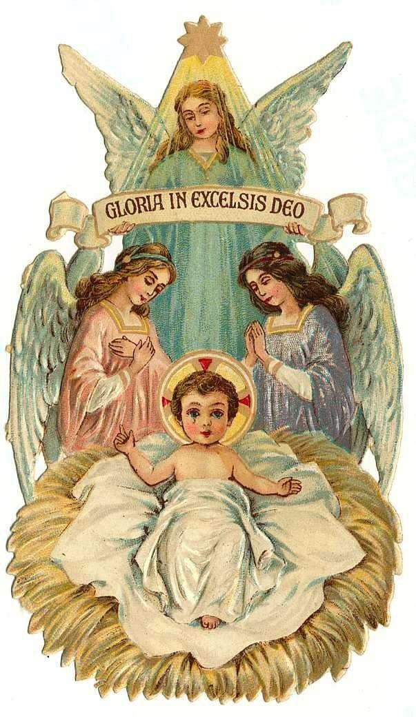 Vintage Angel Clip Art Free  Vintage floral Christmas cards