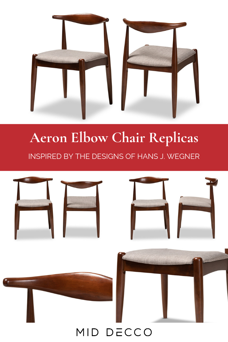 Aeron dining chairs wegner style elbow chairs set of 2 in
