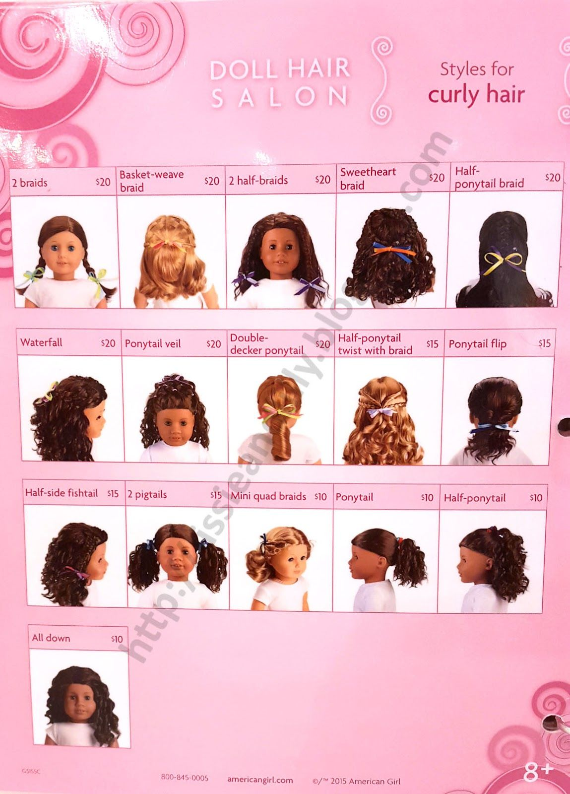 Hairstyles For Curly Hair Dolls American Girl Hairstyles