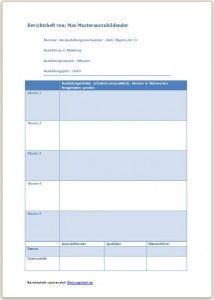 Berichtsheft Vorlage Muster Beispiel Ausbildungsnachweis Inhalt Ausbildung Berichtsheft Ausbildung Vorlagen