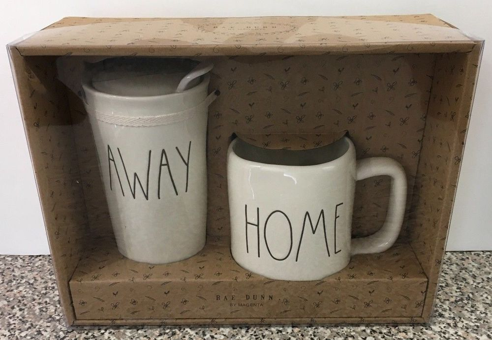 rae dunn away travel tumbler home coffee tea cup mug new box set rh pinterest com