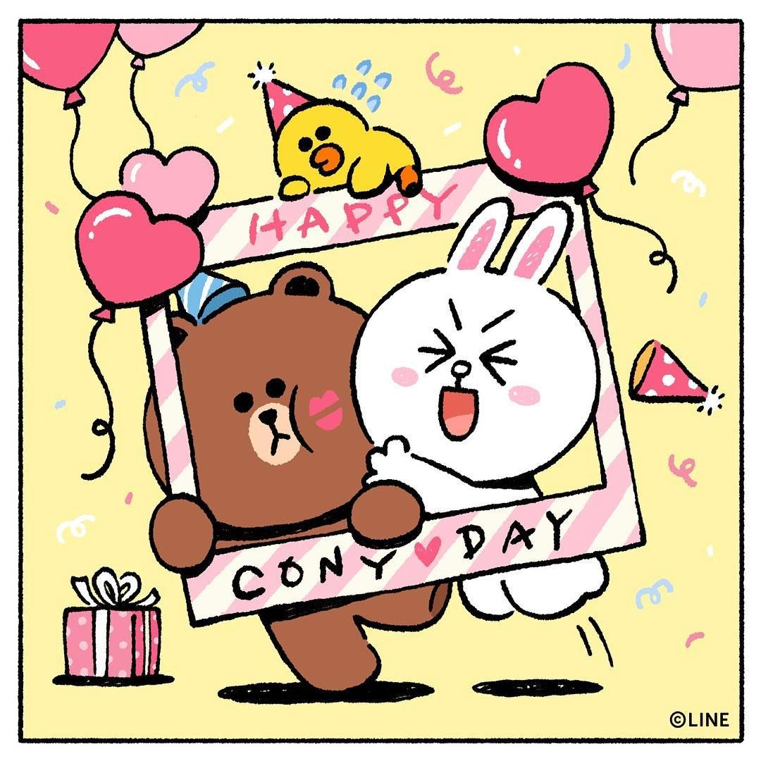 Line Friends Jp On Instagram 今日はコニーの日 コニーがしたいことは全部してね 食べたいものは全部食べて 誕生日おめでとう 4月17日 コニーの日 誕生日 サプ Line Friends Cute Cartoon Wallpapers Cony Brown